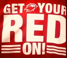 GET YOUR RED ON!