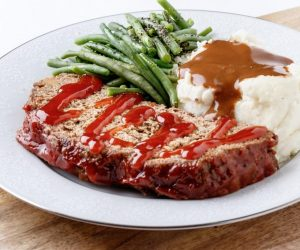 TUESDAY: MEATLOAF OR ITALIAN SAUSAGE W/ONIONS & PEPPERS and your choice of two sides: MASHED POTATOES W/GRAVY, GREEN BEANS, OR MIXED VEGETABLES